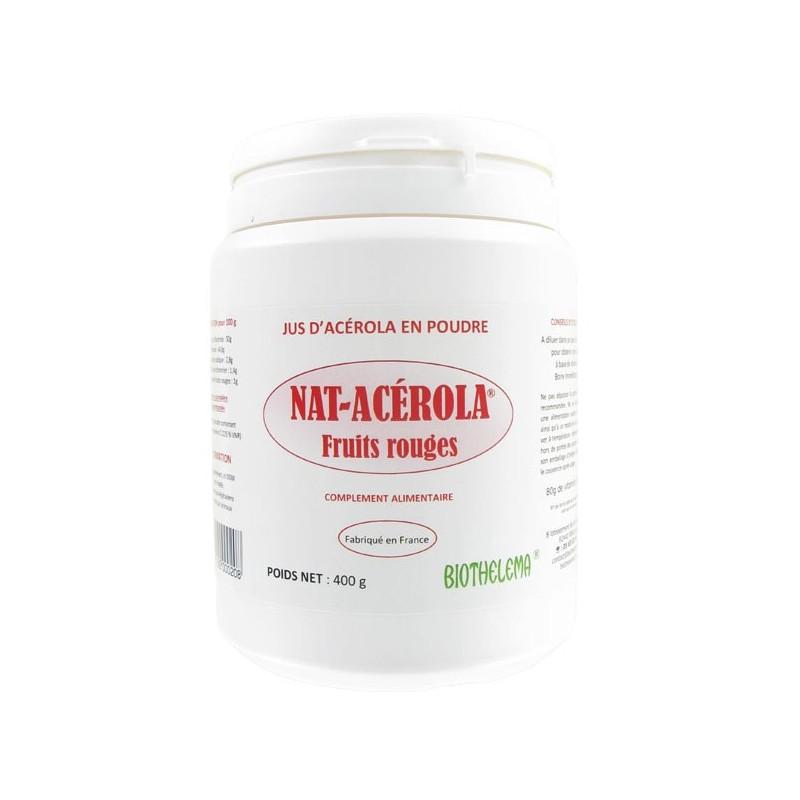 NAT ACEROLA FRUITS ROUGES 400g