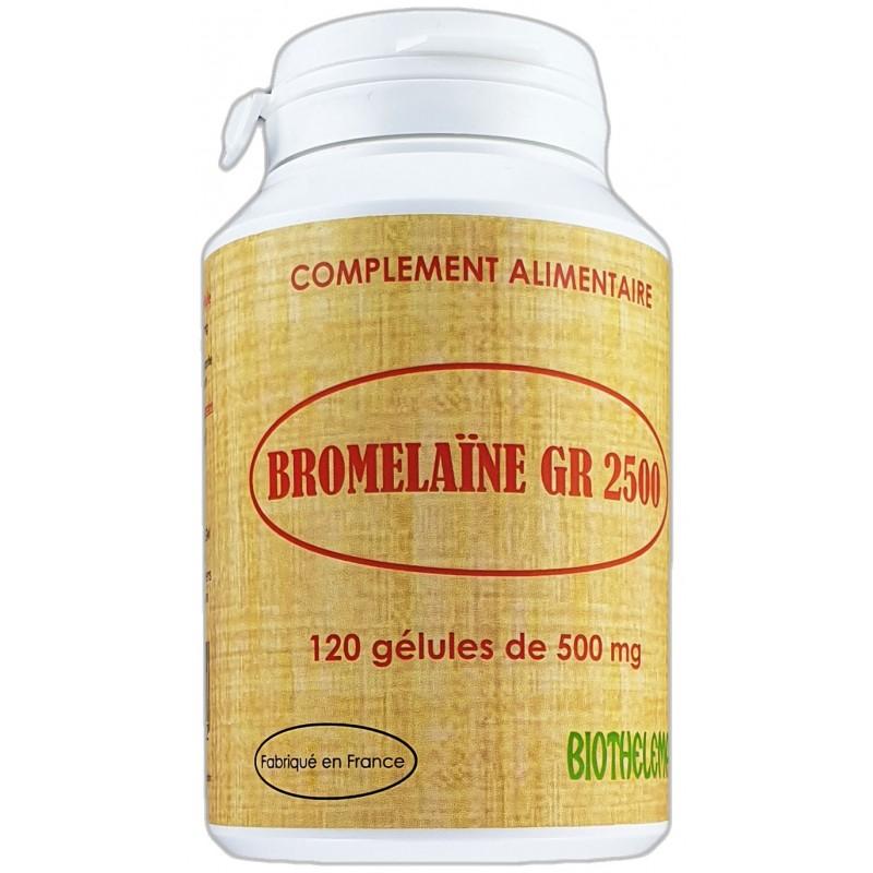 BROMELAINE GR 2500 x 120 gélules