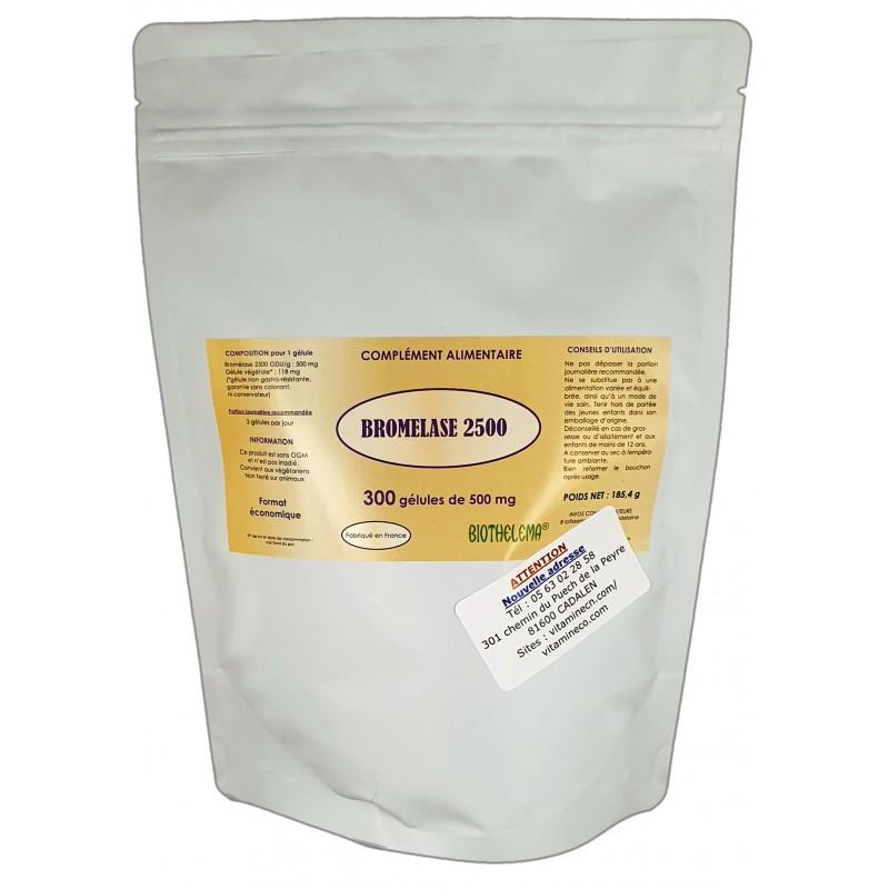 BROMELASE 2500 - 300 gélules